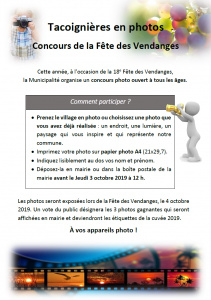 Concours photo Fêtes des Vendanges 2019
